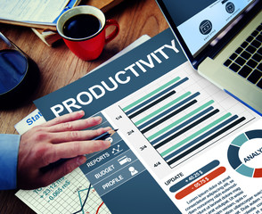 Productivity Businessman Working Calculating PlanningConcept