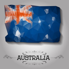 Vector geometric polygonal Australia,  flag.