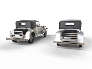 Vintage cars - metallic - back view