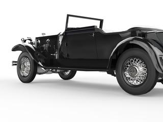 Vintage car - black - close up