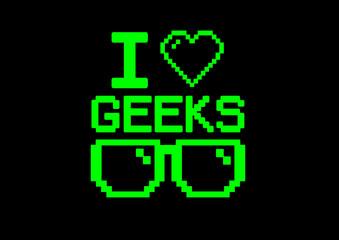 i love geeks glasses screen