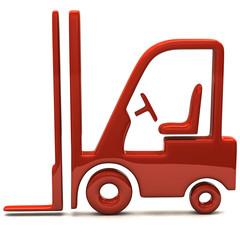 Orange lift truck icon