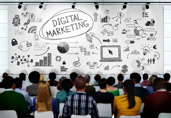 People Seminar Conference Digital Marketing Strategy Concept