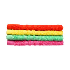Colorful Bathroom Towels isolated