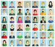 Gesichter von Personen