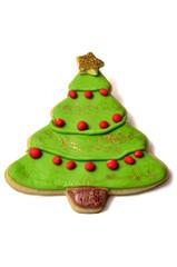 Árbol de navidad de galleta y fondant