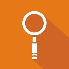 Icono lupa naranja sombra