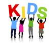 Kids Holding Text Child Children Childhood Concept