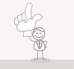 Funny Doodle : Business Man Volunteer Hand