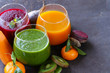 assorted fresh juices from fruits and vegetables - 75982262
