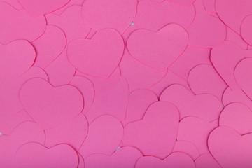 Pink paper Saint Valentines hearts