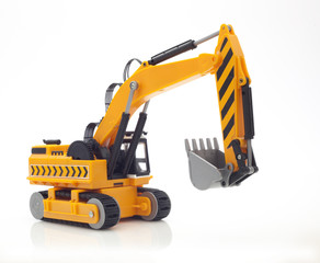Yellow Digger on a White Background