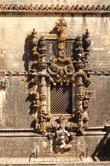 Window in manueline style in Tomar, Portugal