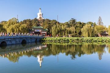 The white tower in Beihai Park, Beijing