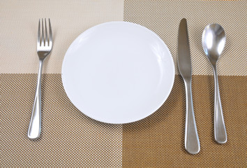 The knife and fork