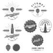 Vintage craft beer brewery emblems, labels and design elements - 75984858