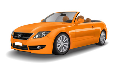 Car Vehicle Contemporary Convertible Sport Orange Concept