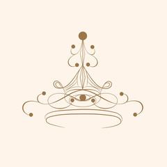 Creative stylish crown design.