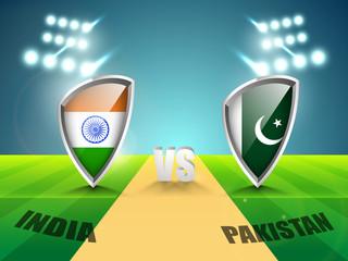 India vs Pakistan Cricket match schedule on stadium lights.