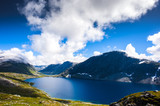 Mountain Dalsnibba landscape in Geiranger, Norway