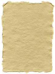 Recycled craft paper texture with with rough, natural edges