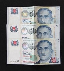 Singapore Dollars money banknote