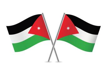 Jordan flags. Vector illustration.