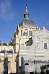 The Almudena cathedral in Madrid, Spain
