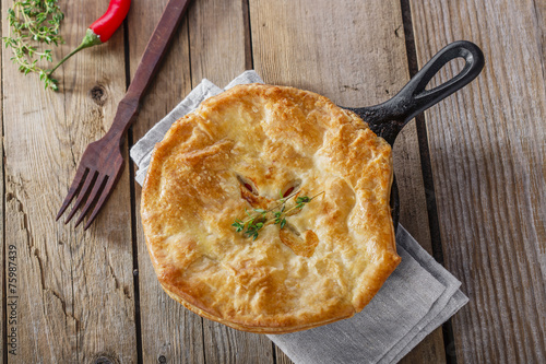 Fotobehang Vlees chicken pot pie
