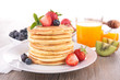 pancake and berry