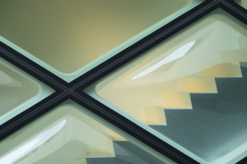 Close-up of glass wall