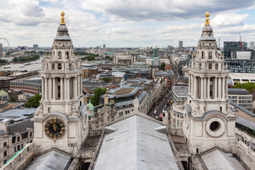 Aerial view of London from St Paul's Cathedral