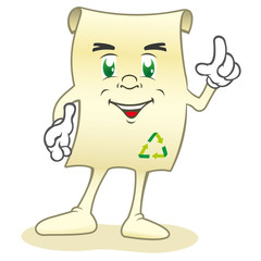 Mascot recycled paper, ecology and sustainability