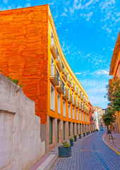 beautiful buildings at figueras town in Spain