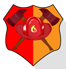 Illustration of fire department shield isolated