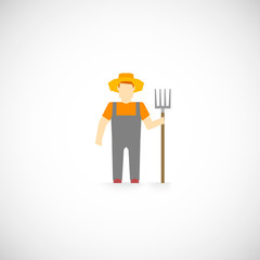 Farmer Character Icon