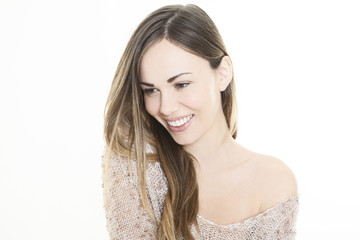 Retrato chica sonrriente