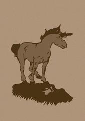 Vintage stallion