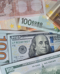 US Dollar and Euro