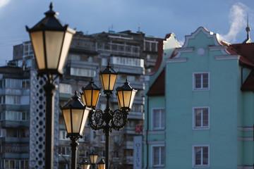 Lights of the Fishing village. Kaliningrad