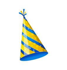Birthday hat isolated on white background