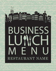 menu for business lunches with the old town