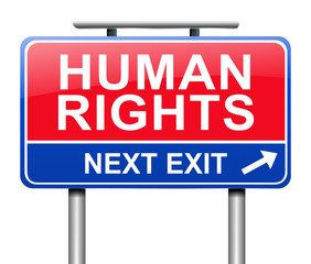 Human rights concept.