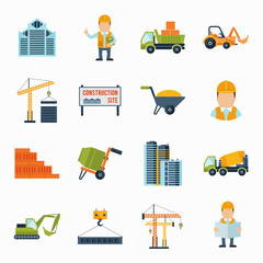 Construction Icons Flat