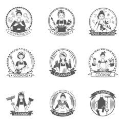 Housewife Label Set