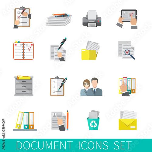 Document Icon Flat - 75994067