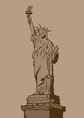Statue of liberty vintage