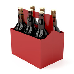 Dark beer bottles