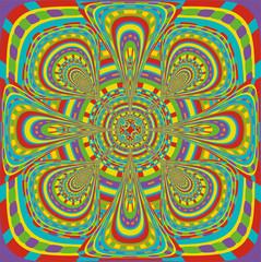 Indian hypnotic psychedelic rainbow mandala