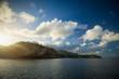 canvas print picture - Sonnenaufgang bei Montserrat, Karibik